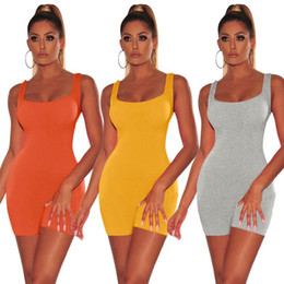 Women Orange Jumpsuits Australia - Yoga Outfits Women Long Sleeve Rompers Bodycon Sexy Short Jumpsuits Outdoor Soft suits For Women