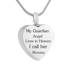 Guardian anGel Gifts online shopping - LHP82 Always in my heart Keepsake Pendant My Guardian Angel Lives in Heaven Cremation Jewelry in Memory of Mommy Urn Necklace