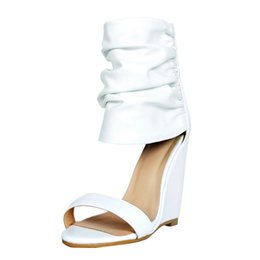 a271c3e5a694 Zandina Ladies Handmade Wadge Heel Sandals D orsay Style Ankle Wrap Shoes  Wedding Party Club Summer Fashion High Heel Sandals Shoes A117