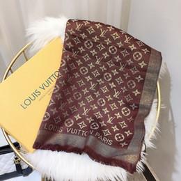 Cotton Designed Shawls Australia - 2019 classic design silk shawl shiny gold and silver yarn cotton yarn-dyed flower scarf fashion men's and women's scarves