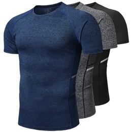 6b88cfe3c2 2019 Outdoor Men's Quick-drying Cationic T-shirt Men's Short-sleeved Fitness  Shirt Stretch Sweat-absorbent Tights Men's Custom T-shirt