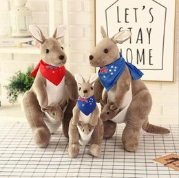$enCountryForm.capitalKeyWord Australia - Free shipping Plush Dolls Kangaroo plush toy doll mother kangaroo doll creative parent-child Novelty Toys Xmas Gift For Kids Holiday Gift