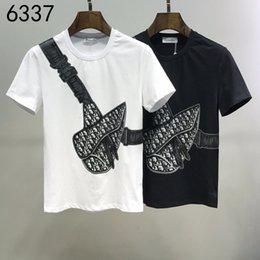 Venta al por mayor de 2020ss primavera y el nuevo algodón de alto grado del verano impresión de manga corta ronda panel de cuello de la camiseta Tamaño: M-L-XL-XXL-XXXL Color: negro blanco x14