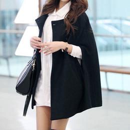 $enCountryForm.capitalKeyWord Australia - Women Loose Batwing Wool Poncho Winter Warm Coat Jacket Cloak Cape Parka Outwear