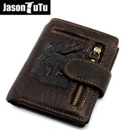 $enCountryForm.capitalKeyWord Australia - 2017 Top Quality New Arrival Genuine Leather Wallet Wolf&Eagle Totem Men Wallets Luxury Dollar Price Vintage Male Purse Coin Bag #308765