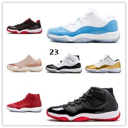 c80eee9bca62 45 11 XI 11s Cap and Gown PRM Heiress Gym Red Chicago Platinum Tint Space  Jams Men Basketball Shoes retro sports Sneakers