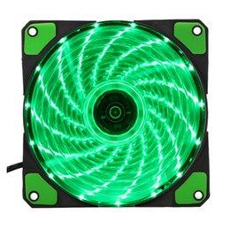 Freeshipping 15 Işıkları LED PC Bilgisayar Şasi Fan Vaka Soğutucu Soğutucu Soğutma Fanı DC 12 V 4 P 120 * 120 * 25mm indirimde