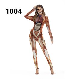 Female movie costumes online shopping - 2019 hot sale explosions European and American Halloween costumes festival activities party costumes COS long sleeve jumpsuit