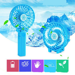 Plastic Electric Fan Australia - Mini Folding Handy USB Fan Convenient Handle Mini Charging Electric Fans Snowflake Handheld Portable Comfortable Cool For Home Office Gifts