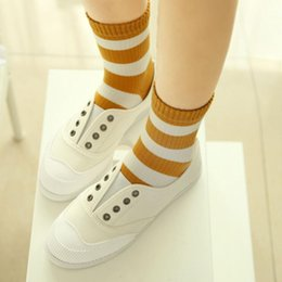 unique socks Australia - Unique Women Girls Cute Cotton Warm Socks Cotton Blended women girls' striped over ankle short sport socks calzini donna