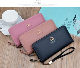 zippers grey fashion Australia - New ladies wallet female long section fashion 2019 Japanese and Korean zipper large capacity lychee pattern leaf wallet clutch bag