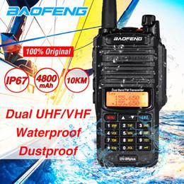 Wholesale hams radio online – design Baofeng UV R Plus Walkie Talkie W High Power Two Way Radio Waterproof UV9R Dual Band VHF UHF CB Ham Amateur Radio Transceiver