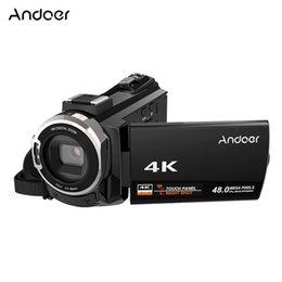 China digital video Andoer 4K 1080P 48MP WiFi Digital Video Camera Camcorder Recorder w 0.39X Wide Angle Macro Lens Microphone Novatek 96660 Chip cheap electronic microphones suppliers