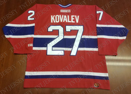 1d0e04460 Cheap custom Alex Kovalev Vintage Montreal Canadiens CCM Hockey Jersey Red  Habs Stitched Retro Hockey Jersey XS-5XL