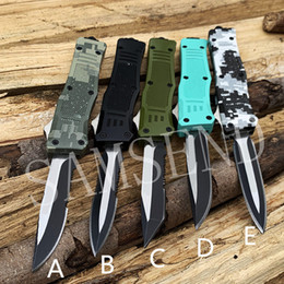 tactical chains Australia - 5 color 616 tactical mini key chain Camping aluminum alloy double action folding knife 440C gift knife edc tool 1PCS