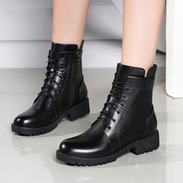 $enCountryForm.capitalKeyWord Australia - New Arrival Genuine Leather Women's boots, Fashion Luxury Women's Snow Boots Warm fur lining,High quality Cool Martin boots WBS 006