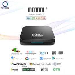 $enCountryForm.capitalKeyWord Australia - Android 9.0 Google Certificated Mecool KM9 Pro 4G 32G Voice Control Android TV Box 4K HDR Dual WiFi Smart Media Player