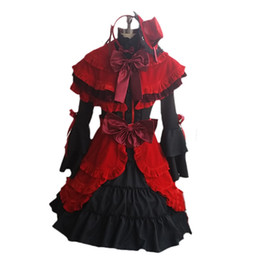 Chinese  K Project RETURN OF KINGS Kushina Anna Cosplay Costume Full Set Dress ( Dress + Cape + Apron Hat Headwear Bowknot ) manufacturers