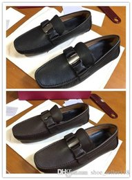 $enCountryForm.capitalKeyWord Australia - Hand stitched Vara ornamented loafers brown black Men Moccasins Loafers Slip on dress shoes luxury elegance bussiness casual party shoes