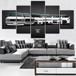 $enCountryForm.capitalKeyWord Australia - Canvas Painting HD Print Modular Artwork Modern 5 Pieces Nissa Skyline Gtr Car Pictures Home Decorative Wall Art Unique Poster