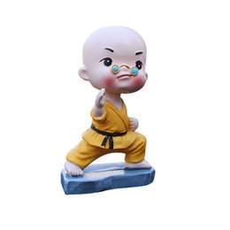 toys small car 2019 - Auto Interior Car Doll Resin Miniature Kungfu Small Monk Craft Accessories Family Office Car Decoration Decoration Toy c