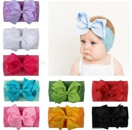 Kids cute ribbon hair band online shopping - Ins hot baby hair accessories super soft infant kids nylon ribbon with big bow children cute pBaby Girls Head Bands Infant Headband Headwrap