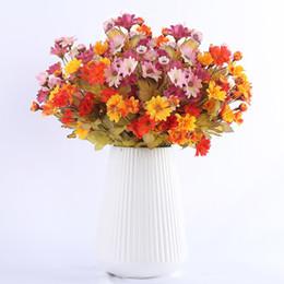 $enCountryForm.capitalKeyWord UK - 35 Heads Small Silk Artificial Flowers Sunflowers Autumn Decoration Table For Home Fall Gerbera Daisy Yellow Fake Flower Bouquet