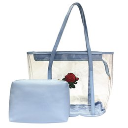 $enCountryForm.capitalKeyWord Australia - Ladybabag Brand Women Transparent Jelly Bag Tote Bag Summer Rose Shoulder Handbag Dropshipping torebka damska