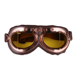 $enCountryForm.capitalKeyWord UK - Motorcycle Goggles Glasses Vintage Motocross Classic Goggles Retro Pilot Pilot Cruiser Steampunk Atv Bike Uv Protection Copper #182050