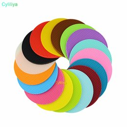 Kitchen Place Mats Australia - Multifunctional Round Silicone Non-Slip Heat Resistant Pot silicone table mats Coaster Cushion Place Mat Pot Holder Kitchen Accessories