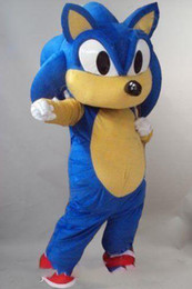 hot adults videos NZ - Hot sale Sonic the Hedgehog Mascot Costume Video Suits Dress Adult Outfits