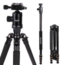 Wholesale Z688 Professional Photographic Travel Compact Aluminum Heavy Stable Tripod Monopod Ball Head for Digital DSLR Camera