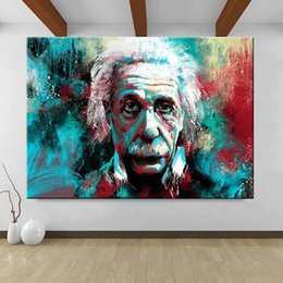 pop panels NZ - 1 Panel Modern Pop Graffiti Wall Art Canvas Love Is The Answer Posters And Prints Einstein Spray Painting Art Pictures No Frame