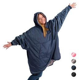 $enCountryForm.capitalKeyWord Australia - Comfy Hoodie Sweatshirt Blanket Shark Tank Warm Soft Reversible with HoodLarge Pocket One Size