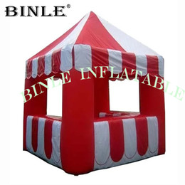 Custom inflatable Concession Stand tent inflatable carnival treat shop with tower top for sale on Sale