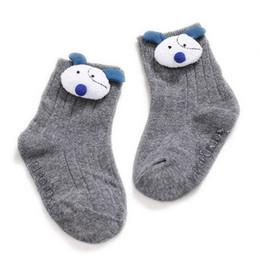 $enCountryForm.capitalKeyWord UK - 2019 New Lovely Infant Baby Toddler Girls Boys Socks Cotton 0~5Y Cute New Born Kids 3D Animal Knitted Anti-Slips Socks