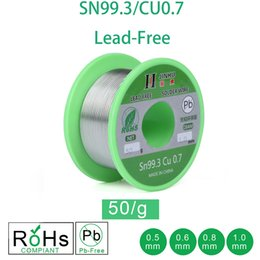 soldering wire lead free NZ - Welding & Soldering Supplies Welding Wires 50g Lead-free Solder Wire 0.5-1.0mm Unleaded Lead Free Rosin Core for Electrical Solder RoHs