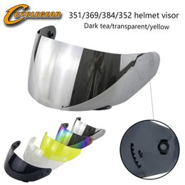 uv lens cover NZ - Ls2 Ff352 &351 &369 &384 Motorcycle Helmet Visor Pc Material Motorcycle Helmet Visor Lens Casco Anti -Scratced And Anti -Uv 400 Wholesale