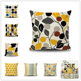 Fashion Stripe Cushion Cover Nordic Geometric Blue Grey Decorative Pillow Case Sofa Bed Car Home Decor Cushion Covers 45x45cm Cushion Cover