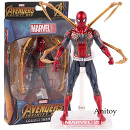 12 Spiderman Figures Australia - Hot Toys Marvel Avengers Infinity War Iron Spiderman Action Pvc Spider Man Figure Collectible Model Toy 17cm Q190604