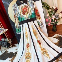 $enCountryForm.capitalKeyWord Australia - Early autumn Womens dress casual slim striped skirt really temperament long-sleeved shirt high waist dress
