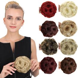 Девять цветов волос Bun Люкс для волос Scrunchie Bun Клетка с Clip-In Design Fast Roller Bun волос на Распродаже