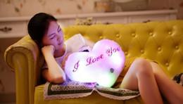 $enCountryForm.capitalKeyWord NZ - Heart Shape Colorful luminous music pillow luminous birthday holiday gift plush Children Plush Toy home decor sleeping doll