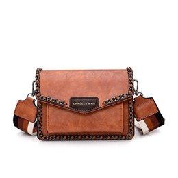 3f6d5a206711 INONE Luxury Bags For Women Nice Bolsa Feminina Shoulder Handbag Flap  Leather Travel Purse Bag With Wide Stripe Strap Chain Trim