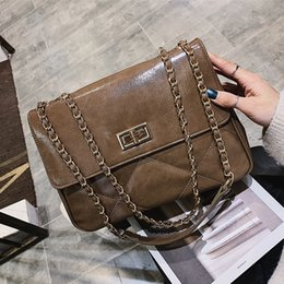 Camel Chain NZ - Diamond Lattice women totes Plaid messenger bag leather designer handbag Chain Crossbody shoulder bag new Thread fashion handbag