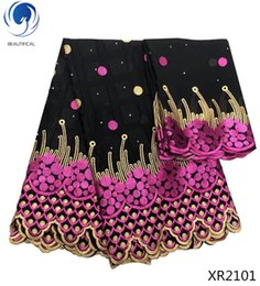 $enCountryForm.capitalKeyWord Australia - Black with rose red cotton Llace Fabrics For African Parties, Swiss Voile Lace In Switzerland High Quality 2019 XR21