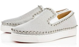 Cheap Designer Flats Australia - Cheap Designer Red Sneakers Casual Shoes Mens Womens Silver Lows Spikes Flats Loafers Pik Boat Genuine Leather Luxury Man Woman Shoe 6sfd