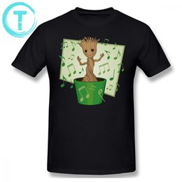 $enCountryForm.capitalKeyWord NZ - Groot T Shirt Dancing Baby Groot T-Shirt Male Cotton Tee Shirt Streetwear Plus size Short-Sleeve Fun Graphic Tshirt