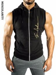 $enCountryForm.capitalKeyWord Australia - MUSCULARITY Christmas Mens Hoodie Sleeveless Bodybuilding Fitness Vest Hoodie Sweatshirts Clothing Hombre Muscle Tank Tops Y19042204