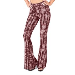 $enCountryForm.capitalKeyWord UK - Women New Broad Legged Yoga Pants Ladies Print Tight And Baggy Elastic Pants Female High Waisted Yoga Push Up